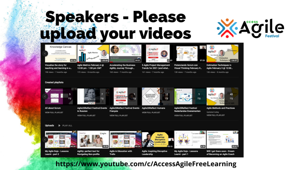 Speakers : Upload your Videos – It's So Easy!